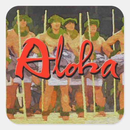 Aloha Hula Stickers