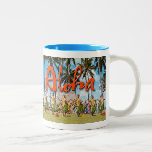 Aloha Hula Two-Tone Coffee Mug