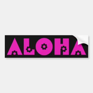 Aloha in Pink Flowers Bumper Sticker