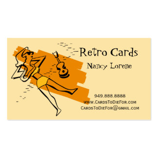 Aloha in Yellow & Gold - Retro Business Cards
