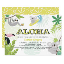 Aloha Koala Tropical Baby Shower Invitation