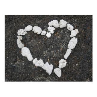 Aloha * Love * Coral Heart Postcard