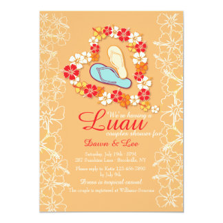Aloha Love Luau Bridal Shower Invitation