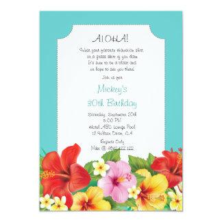 Aloha! Luau Hawaiian Birthday Party Card