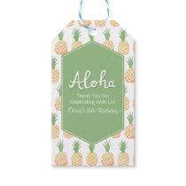 Aloha Luau Pineapple Pattern Thank You Gift Tags
