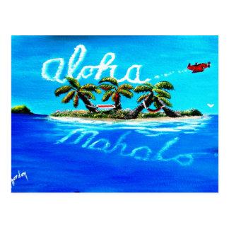 aloha mahalo postcard