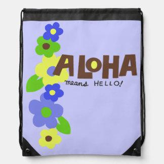 Aloha Means Hello Hawaiian Floral Backpack