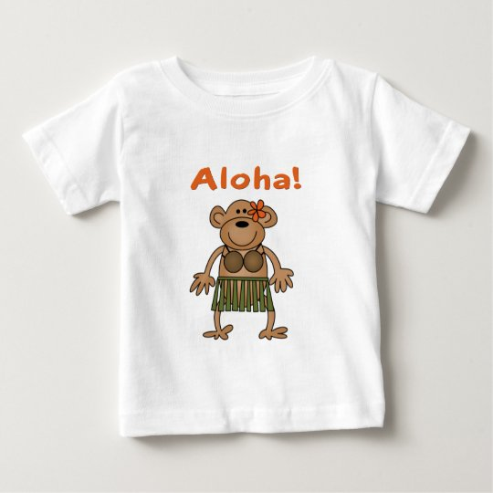 Aloha Monkey Baby T-Shirt