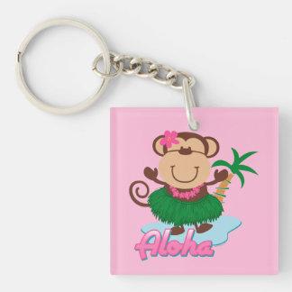 Aloha Monkey Acrylic Key Chains