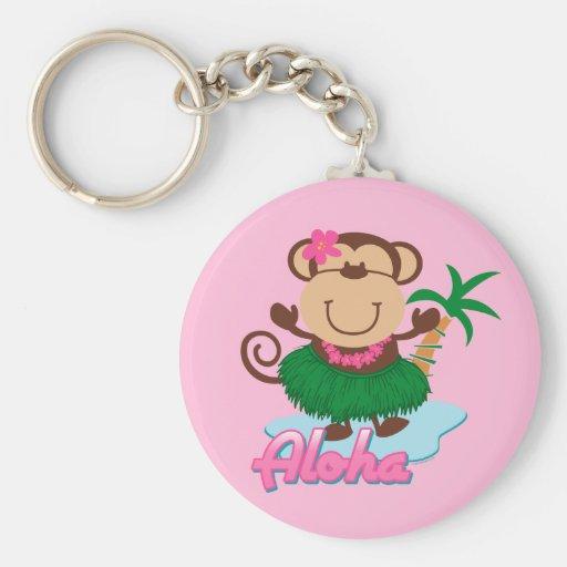 Aloha Monkey Keychain