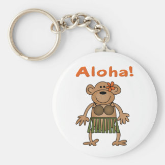 Aloha Monkey Keychains