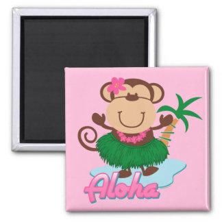 Aloha Monkey Magnet