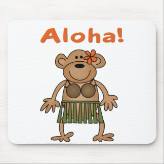 Aloha Monkey Mouse Pad