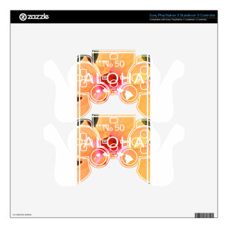 Aloha No 50 Orange Hibiscus Decal For PS3 Controller