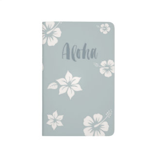 Aloha Notebook with brush lettering