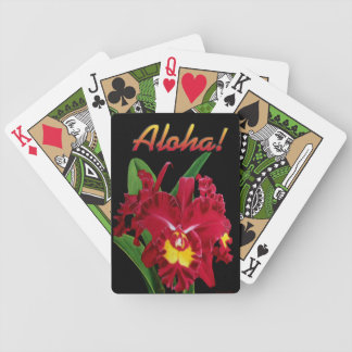Aloha Orchid Oil Painting Playing Cards