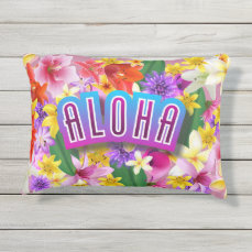 Aloha! Outdoor Pillow