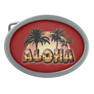 Aloha Oval Belt Buckle