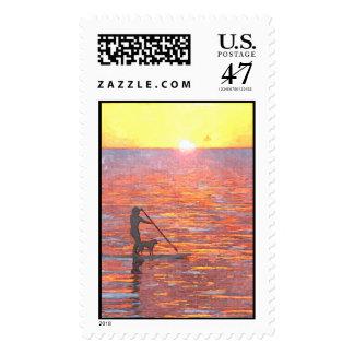 Aloha Paddler Postage Stamp