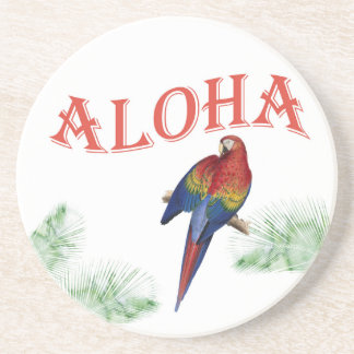 Aloha Parrot Luau Coaster