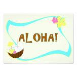 """ALOHA Party 1 5"""" X 7"""" Invitation Card"""