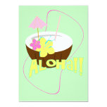 """ALOHA Party 4 5"""" X 7"""" Invitation Card"""