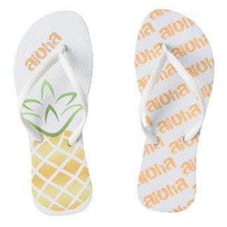 Aloha Pineapple Flip Flops, Sandals