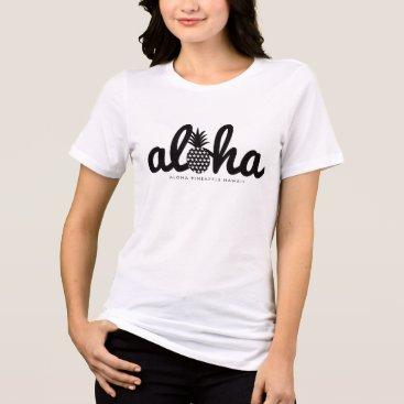 Beach Themed aloha pineapple hawaii (star) T-Shirt