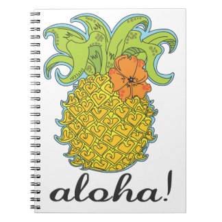 Aloha Pineapple Notebook