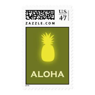 Aloha (pineapple - olive green) postage