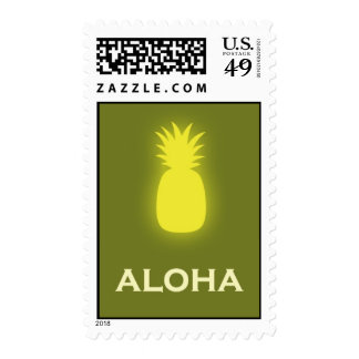 Aloha (pineapple - olive green) stamp