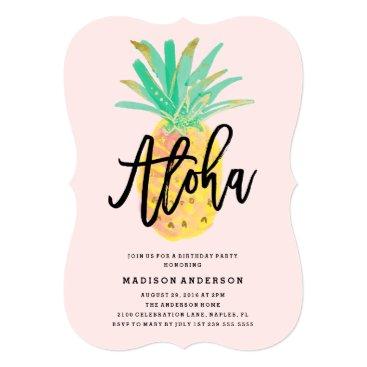 FINEandDANDY Aloha Pineapple Party Invitation