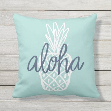 Beach Themed Aloha Pineapple Pillow