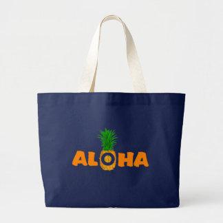 Aloha Pineapple Print Bag - Large Beach Tote