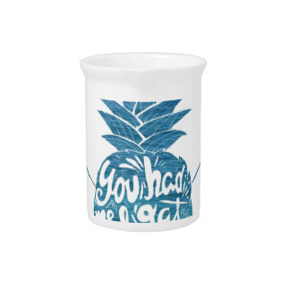 Aloha Pineapple Surfboards Beverage Pitcher