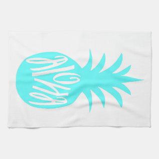 Aloha Pineapple Towel at Zazzle