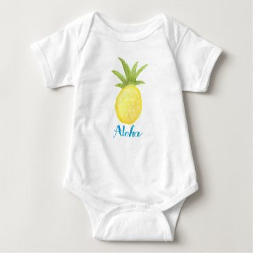 Toddler & Baby themed Aloha Pineapple Watercolor Infant Shirt