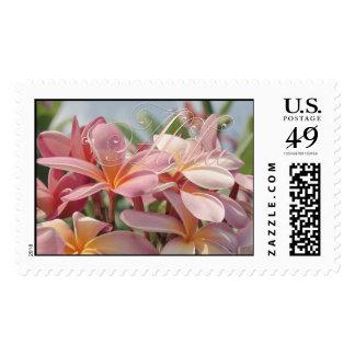 Aloha Pink Plumeria Postage