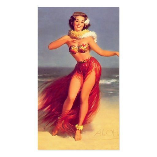 Aloha Pinup Revised Business Card