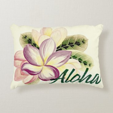 Aloha Plumeria Accent Pillow