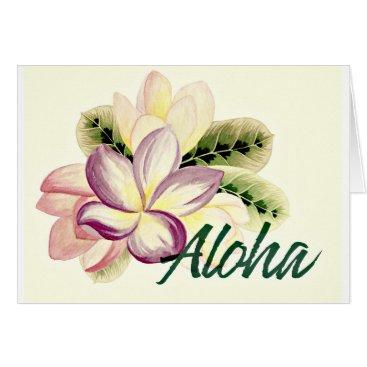 Aloha Plumeria Card