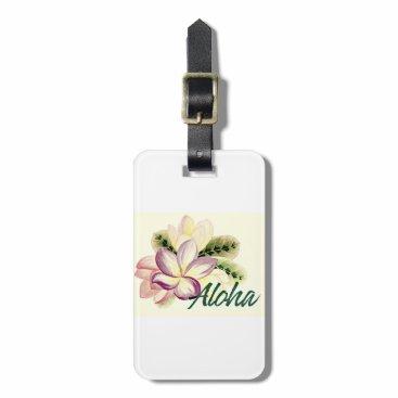 Aloha Plumeria Luggage Tag
