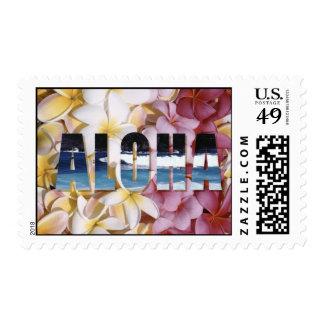 Aloha Plumeria Postage Stamps