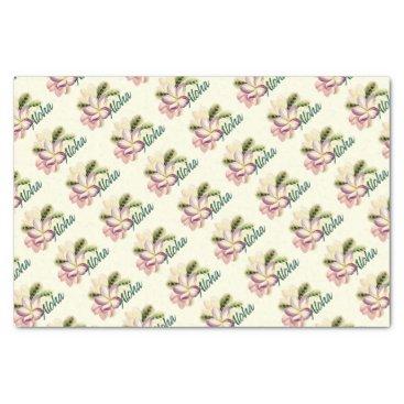 Aloha Plumeria Tissue Paper