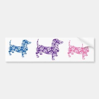 Aloha Purple Doxie Dachshund Bumper Sticker