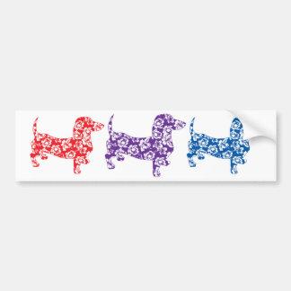 Aloha Purple Doxies Bumper Sticker