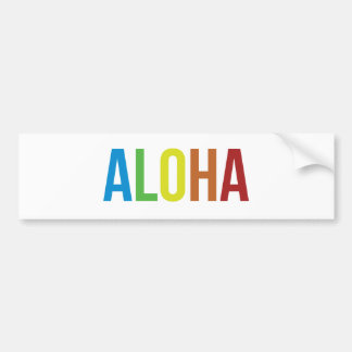 Aloha Rainbow Bumper Sticker