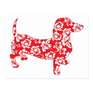 Aloha Red Doxies Postcards