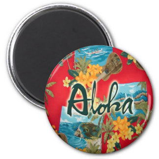 Aloha Red Fridge Magnets