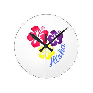 Aloha Round Clock